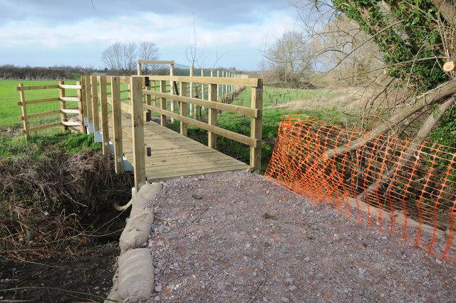 New footbridge over Norman's Brook