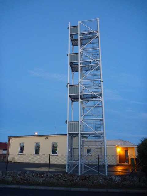 East Lothian Townscape : The Tower, Dunbar Fire Station