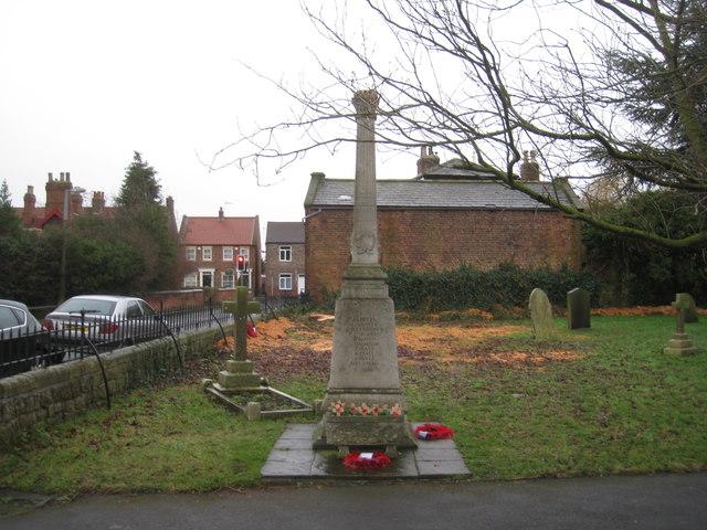 War memorial, Riccall