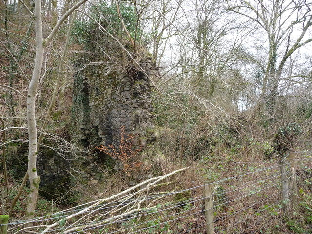 Remnant of a ruined building beside the Afon Nedd Fechan