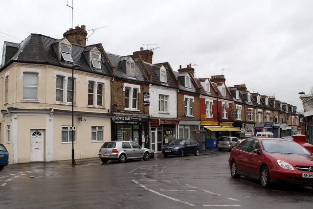 Shops on Whittington Road