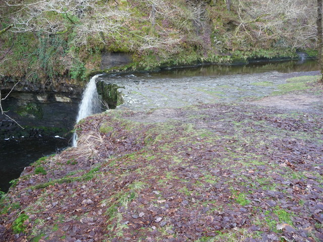 The rocky bed above Sgwd Gwladus waterfall
