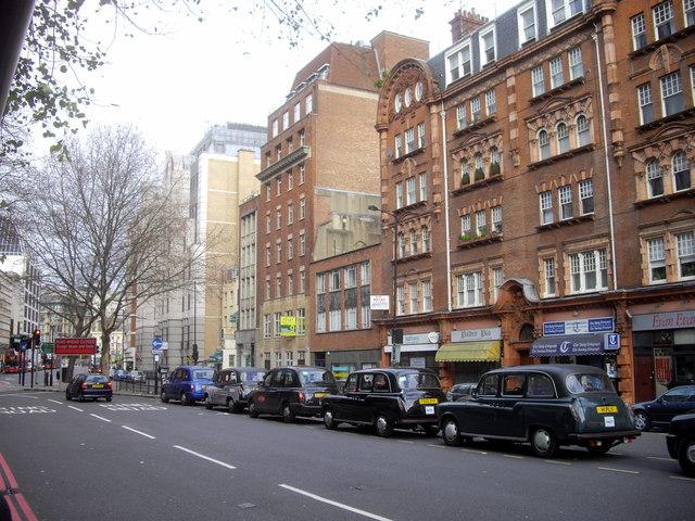 Taxi queue in Vauxhall Bridge Road