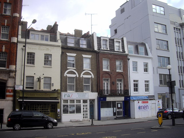 Row of shops and public house in Vauxhall Bridge Road