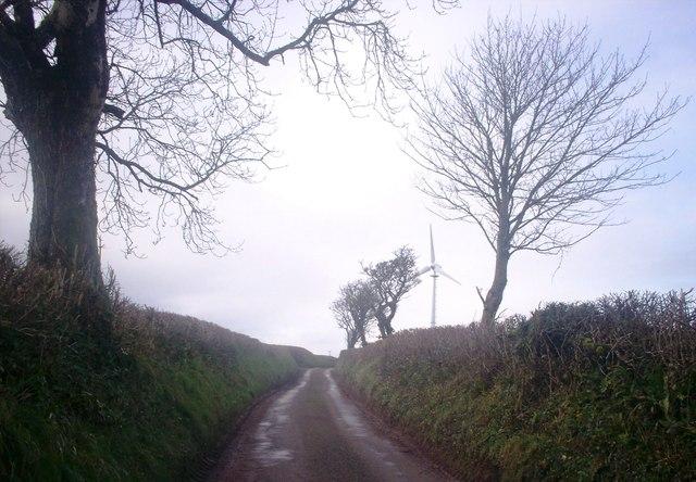 Crossland's Road Llanteg - with Turbine