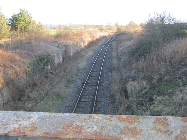 Track for the Weardale Railway to the east of Escomb railway bridge