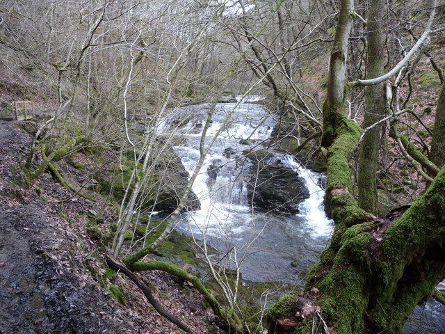 Cascades on the Nedd Fechan below Sgwd Ddwli
