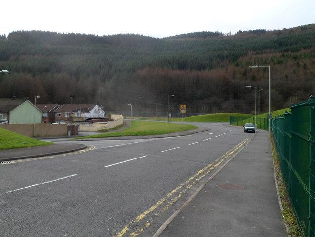 Unnamed road to industrial estates, Ynyswen