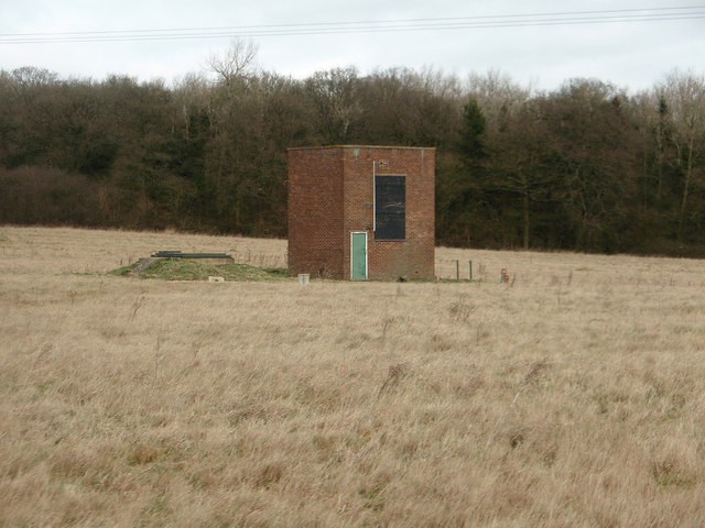 Brick building in the field