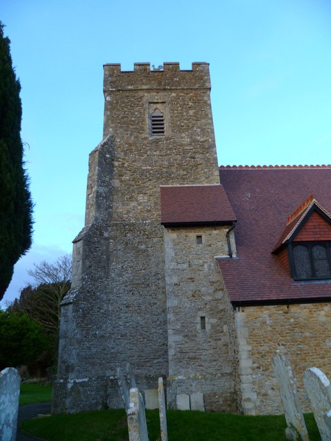 The tower and weathercock of North Mundham church