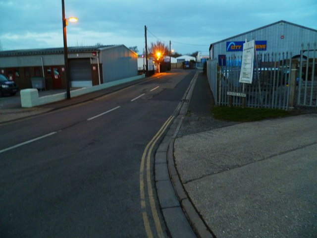 Gravel Lane seen from Quarry Lane