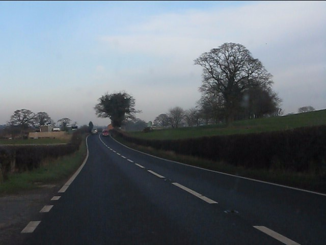 A49 north of Bradeley Green