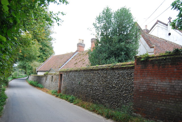 Flint Wall, Old Rectory