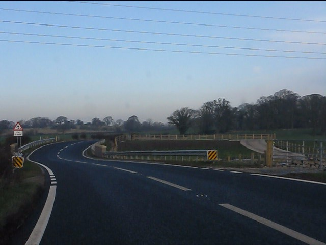 Chicane over the Steer Brook, A49