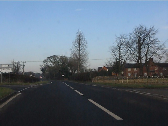 Crossroads on the A49