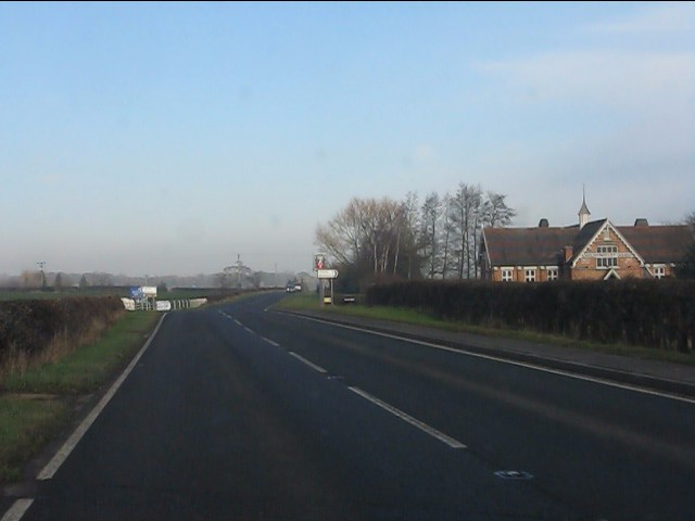 A49 at The Cholmondeley Arms crossroads