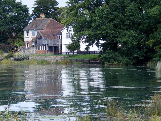 House bordering the River Hamble near Swanwick