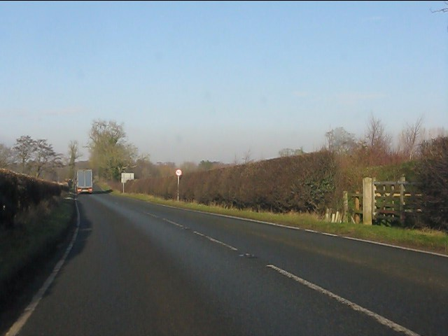 A49 at the footpath crossing