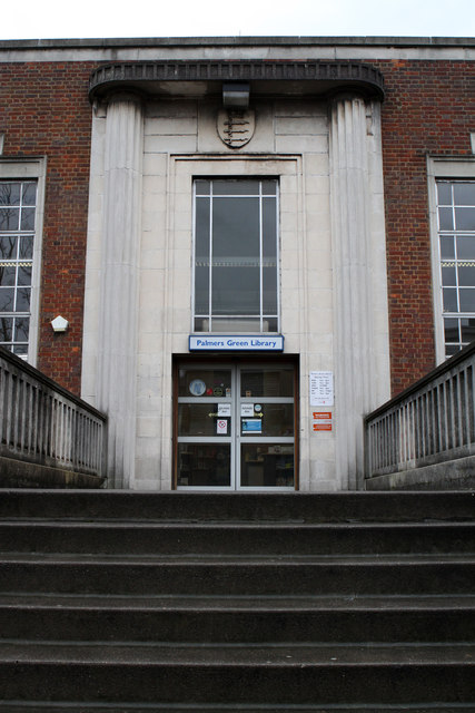 Entrance to Palmers Green Library