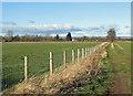 SE7074 : Grassy track off Green Dike Lane by Pauline E