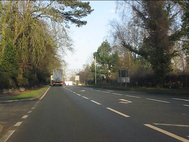 A49 north of Tiverton