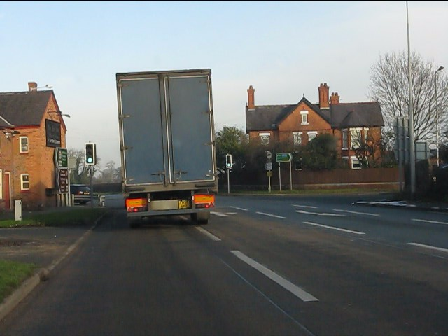 A49 at Four Lane Ends traffic lights