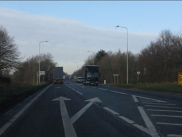 Nantwich Road junction, A49