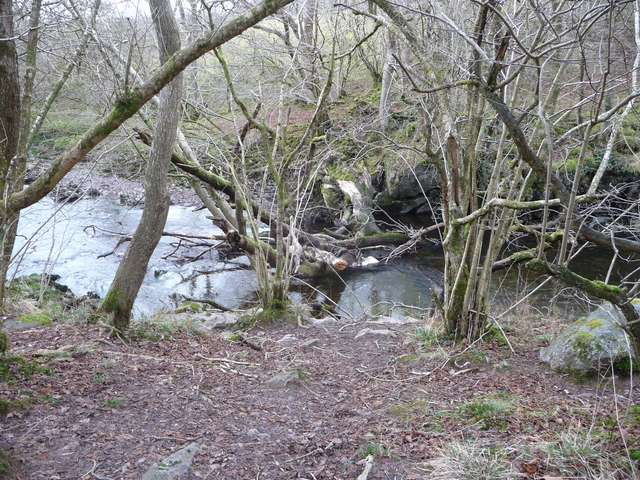 Part of the Afon Mellte downstream of Cwm Porth car park
