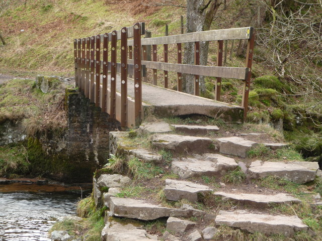 Footbridge over the Afon Mellte