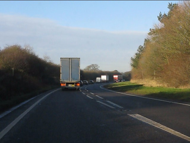 Tarporley bypass at a footpath crossing