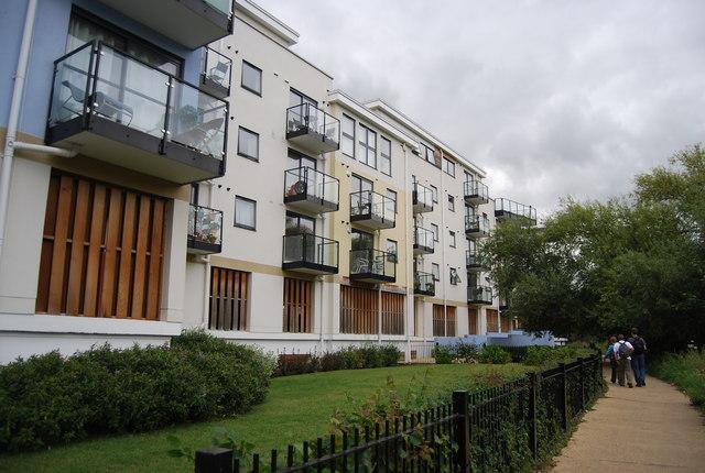 Riverside development