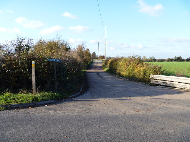 The end of the bridleway