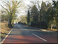 SJ5665 : A49 approaching Cotebrook by Peter Whatley