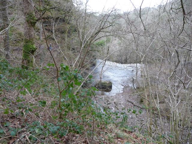 Above Sgwd Isaf Clun-gwyn waterfall