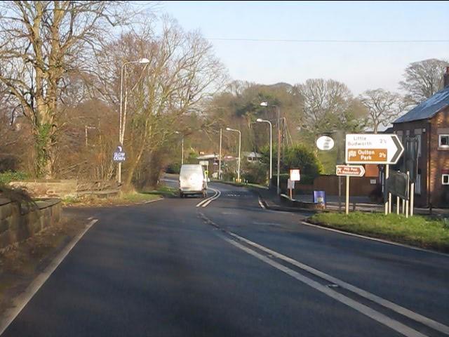 A49 at Cotebrook crossroads