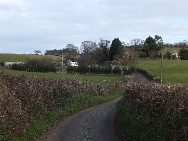 Branscombe Lane leading up to Branscombe Cottage