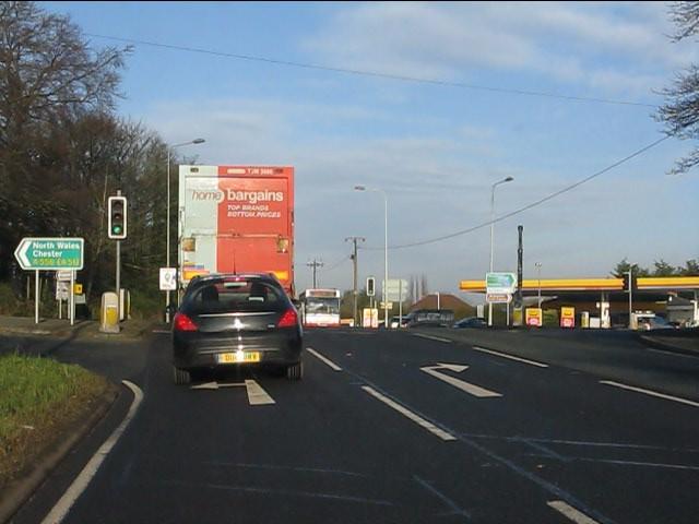 A49 at Sandiway traffic lights