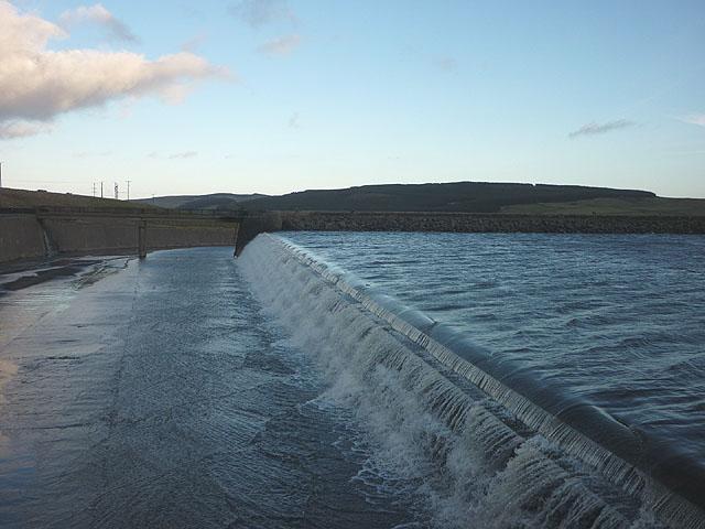 The River Lune exits Selset Reservoir
