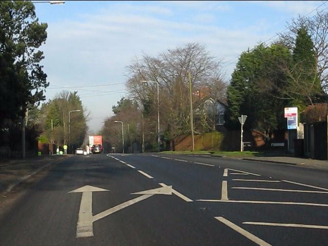 A49 at Glebe Road, Cuddington