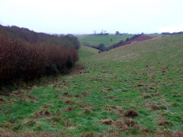 Dry Valley near West Milton