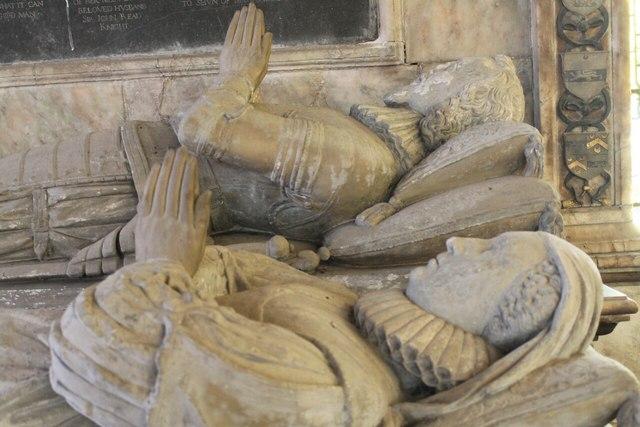 Sir John and Dame Anne Reade, memorial, Wrangle church