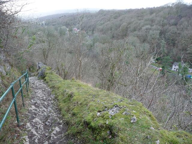 Path on Craig y Ddinas above Pontneddfechan