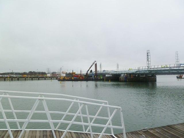 Poole, Twin Sails Bridge b)