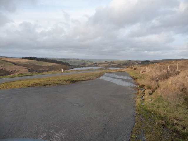 Lay-by off the A4067 overlooking Crai Reservoir