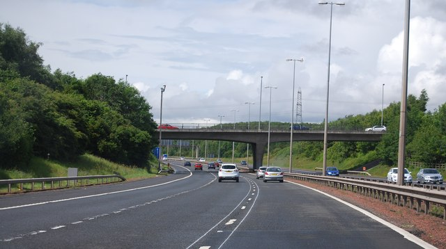 Overbridge, Junction 3a, M74