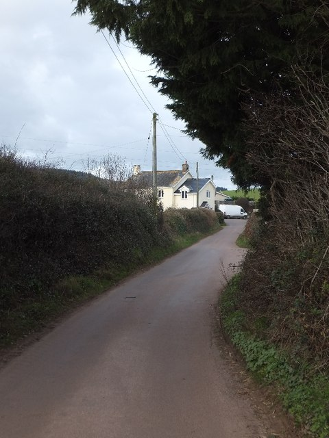The minor road to Basket Lodge
