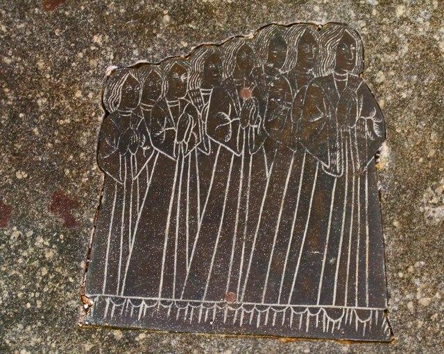 Sons of Sir John & Margaret Reade, brass, Wrangle church