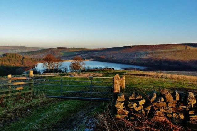 Looking over Strines reservoir