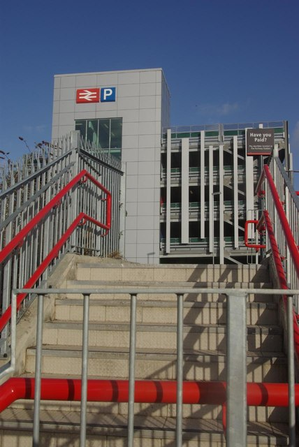 Steps to Rugby Station car park