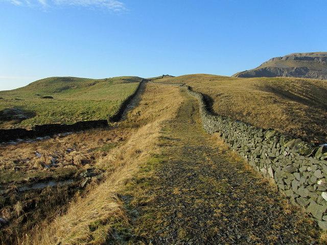 Footpath beside Dry Rigg Quarry